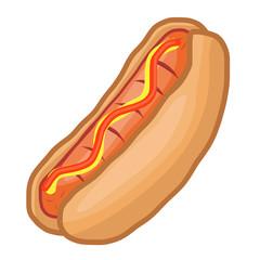 hot dog isolated illustration