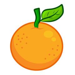 Orange isolated illustration