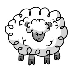 Sheep isolated illustration