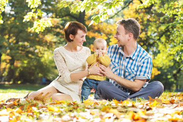 Portrait of parents with beloved child