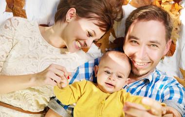 Portrait of the happy family