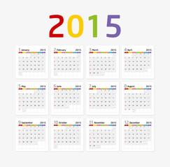 Calendar 2015 - Colorful