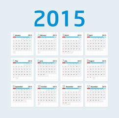 Calendar 2015 - Blue