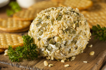 Homemade Cheeseball with Nuts