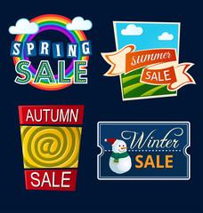 various seasonal sale event tittle