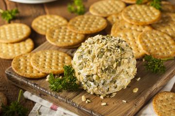 Homemade Cheeseball with Nuts