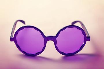 Funky purple sixties hippy sunglasses horizontal