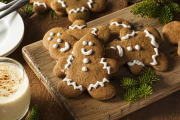 Homemade Decorated Gingerbread Men Cookies