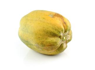 papaya ripe fruits on White background