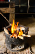 fire hot flame on stove charcoal for cooking