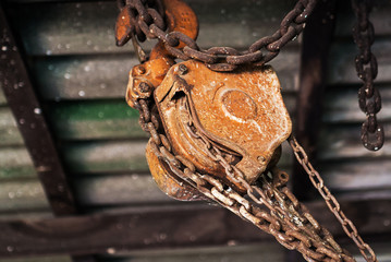 old pulley still life