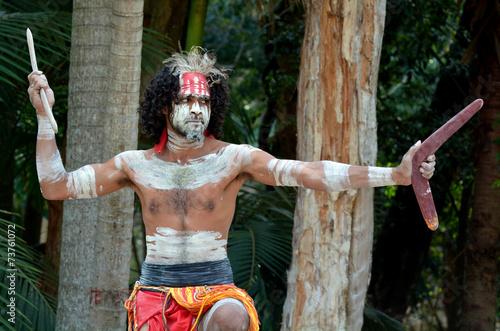Aboriginal culture show in Queensland Australia - 73761072