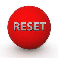 reset circular icon on white background
