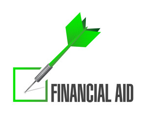 financial aid check mark illustration