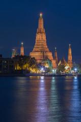 Twilight view of Wat Arun Temple , Bangkok, Thailand
