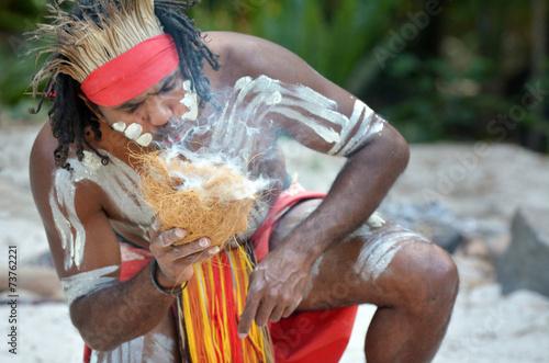 obraz PCV Kultura Aborygenów pokaz w Queensland Australia