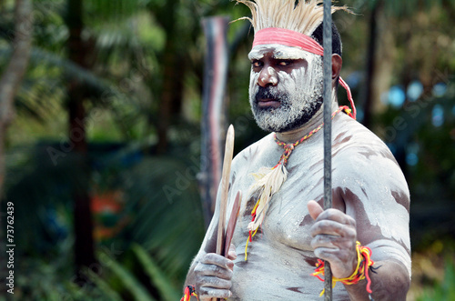 Aboriginal culture show in Queensland Australia - 73762439