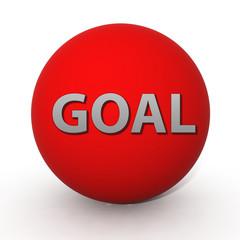 Goal circular icon on white background