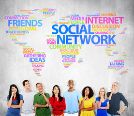 Social Network Internet Friends Ideas Community Concept