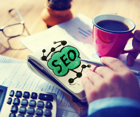 SEO Search Engine Optimization Business Online Concept