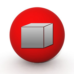 Box circular icon on white background