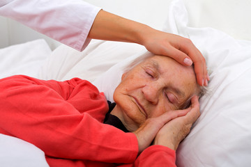 Sleeping elderly