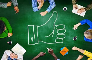 Blackboard Brainstorming Cooperation Planning Meeting Strategy