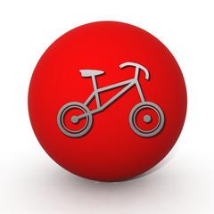 Bike circular icon on white background