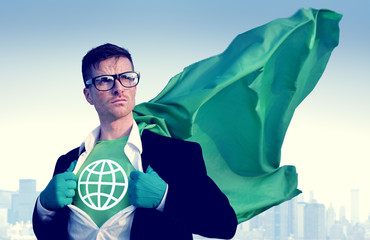 Global Strong Superhero Professional Empowerment C