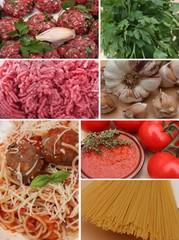 Spaghetti sauce tomate Boulettes de viande