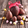canvas print picture - chocolate easter egg
