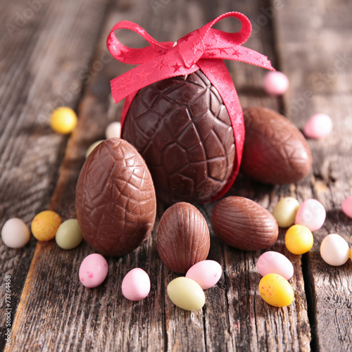 canvas print picture chocolate easter egg