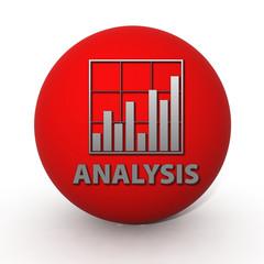 Data analysis circular icon on white background