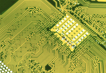 circuit board background of computer motherboard