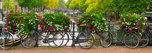 Tuinposter Fiets Amsterdam