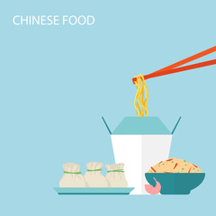 Chinese Food Background.