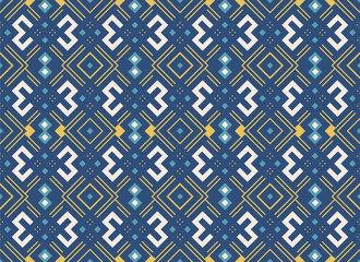 Ethnic pattern in blue color