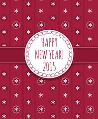 Holiday card Happy New Year 2015.