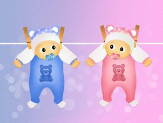 children twins hanging