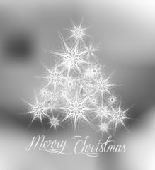 Christmas Silver Tree Background. Vector Illustration