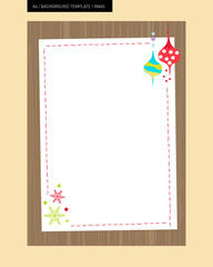 Christmas element background template