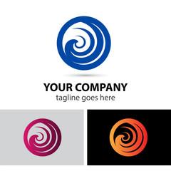 Round swirl logo