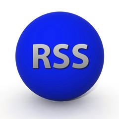 RSS circular icon on white background