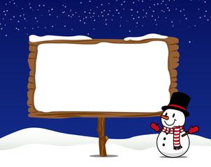 雪だるま 看板