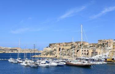 Sailboats in Harbor, Malta