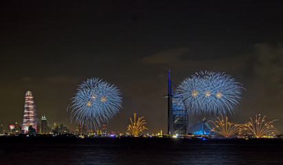 New year celebration in Burj Al Arab and Burj Khalifa