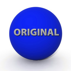 Original circular icon on white background