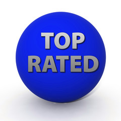 Top rated circular icon on white background