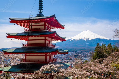Deurstickers Japan The mount Fuji, Japan