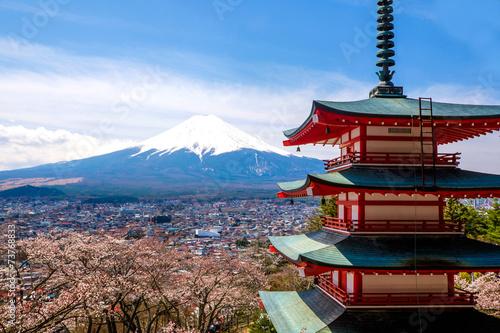 Plagát, Obraz The mount Fuji, Japan